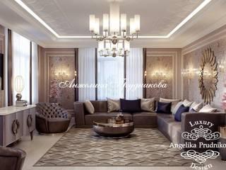 Дизайн-проект гостевого дома в поселке Гринфилд в стиле ар-деко: Гостиная в . Автор – Дизайн-студия элитных интерьеров Анжелики Прудниковой