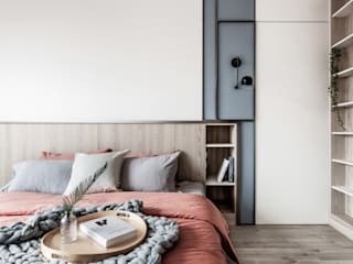 Scandinavian style bedroom by 達譽設計 Scandinavian