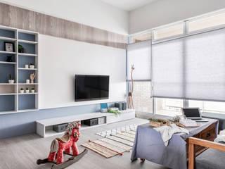 中古翻新生活宅 客廳就是生活遊憩區 根據 達譽設計 北歐風