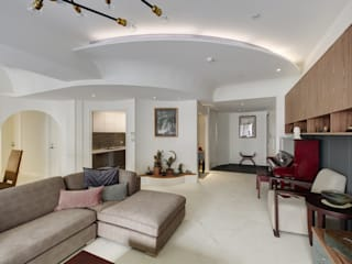 直方設計有限公司 Modern living room White