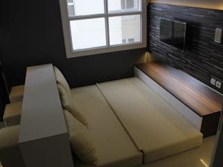 Parahyangan Residence 12 CH - Tipe 2 Bedroom Kamar Tidur Modern Oleh POWL Studio Modern