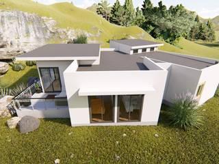 fachada y acceso  hacia patio: Casas unifamiliares de estilo  por Ekeko arquitectura  - Coquimbo