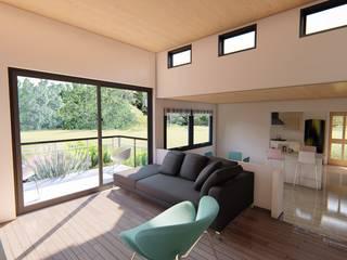 Sala de estar en altura: Livings de estilo  por Ekeko arquitectura  - Coquimbo