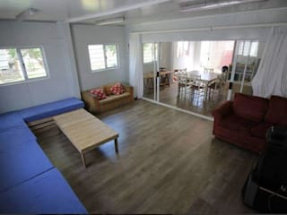 Container Housing For Ubuntu Football Club:  Living room by Container Rental and Sales (Pty) Ltd