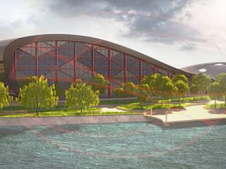 Большепролетное здание Плавательный бассейн на 1260 человек:  в . Автор – STYCOR.DESIGN