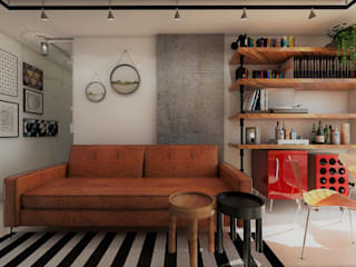 Living room by 285 arquitetura e urbanismo, Industrial