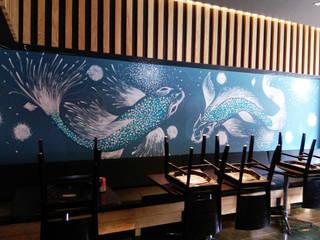 Restaurante de Sushi Comedores minimalistas de Designo Arquitectos Minimalista