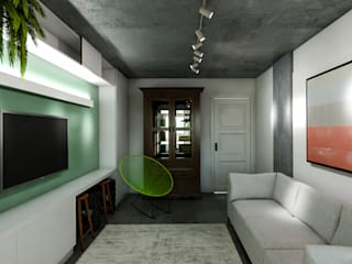 Living room by 285 arquitetura e urbanismo, Modern