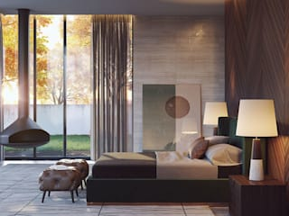 Laskasas Modern style bedroom Green