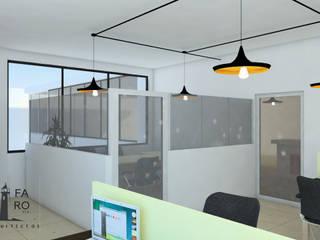 ÁREA DE TRABAJO: Oficinas y tiendas de estilo  por FARO 105 Arquitectos