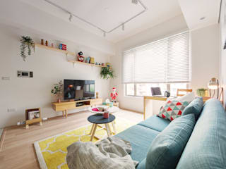 Scandinavian style living room by 一葉藍朵設計家飾所 A Lentil Design Scandinavian