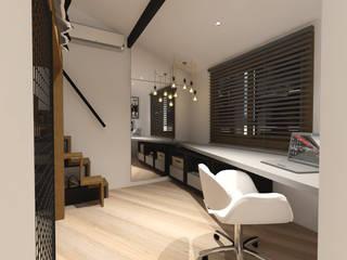 Cláudia Legonde Industrial style bedroom Wood Black