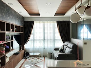 Salas de estar modernas por Singapore Carpentry Interior Design Pte Ltd Moderno