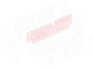 2 Apartamentos: Salas de estar  por COMO Arquitectura,Minimalista