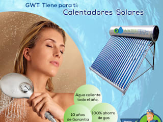 CALENTADORES SOLARES :  de estilo  por Global Water Tech,
