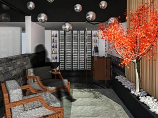 Estudio Raya Modern corridor, hallway & stairs