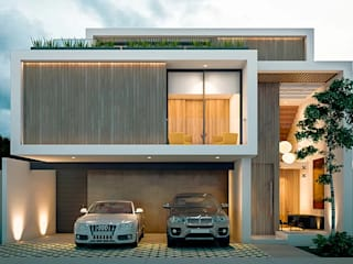 Casa BR: Casas de estilo  por COUTIÑO & PONCE ARQUITECTOS