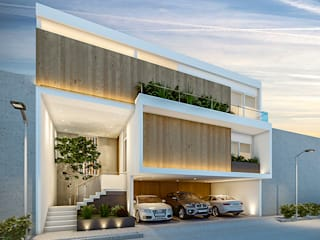 Casa MP: Casas de estilo  por COUTIÑO & PONCE ARQUITECTOS