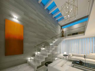 Casa MP: Escaleras de estilo  por COUTIÑO & PONCE ARQUITECTOS