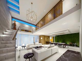 Casa MP: Salas de estilo  por COUTIÑO & PONCE ARQUITECTOS
