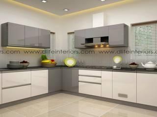 'L' shape kitchen DLIFE Home Interiors