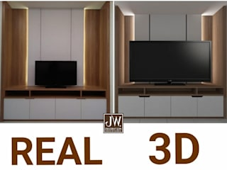 Ibu Meliantha , Citra Garden 2 Ext - Jakarta Barat JW Decoration Living roomTV stands & cabinets Kayu Lapis Wood effect