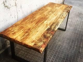 Bancos de madera de Industrial Art Barcelona