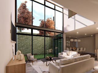 Living room by Taller NR Arquitectura,