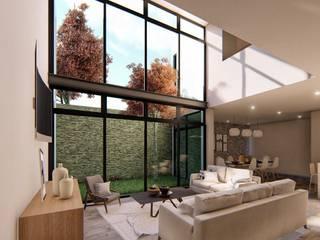Ruang Keluarga oleh Taller NR Arquitectura, Modern