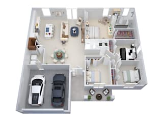 de estilo  por The 2D3D Floor Plan Company