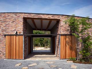 堺の家:  井上久実設計室が手掛けた廊下 & 玄関です。