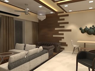 Living room by Golden Spiral Productionz (p) ltd