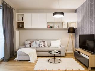mieszkanie Ani  - GACKOWSKA DESIGN: styl , w kategorii Salon zaprojektowany przez GACKOWSKA DESIGN,
