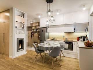 mieszkanie Ani  - GACKOWSKA DESIGN: styl , w kategorii Kuchnia zaprojektowany przez GACKOWSKA DESIGN,