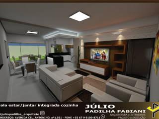Living room by Júlio Padilha Fabiani - Arquiteto