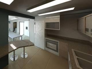 Grupo DH arquitetura Kitchen Ceramic Beige