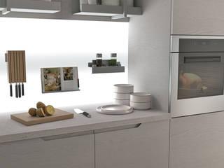 Balcão funcional: Armários de cozinha  por Area design interiores - cozinhas em Braga