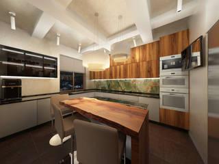 Пентхаус в Санкт-Петербурге.: Кухонные блоки в . Автор – Мария Остроумова