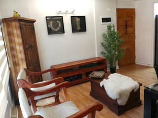 Lagom Studio Modern living room Wood effect