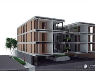 Vivienda Plurifamiliar Aculco 65 (Proyecto en construcción) Casas modernas de ANVERSO Moderno