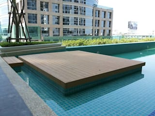 THE TRUST CONDO:  ระเบียง, นอกชาน by QWOOD by AN EMPIRE