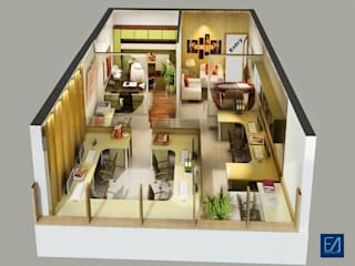 Floor Plan Renderings by Eyellusion Art Studio
