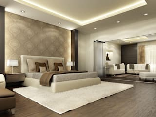 Contemporary Bedroom Renderings Modern style bedroom by Eyellusion Art Studio Modern