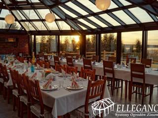 Ogród zimowy Pisz: styl , w kategorii Gastronomia zaprojektowany przez Ellegance