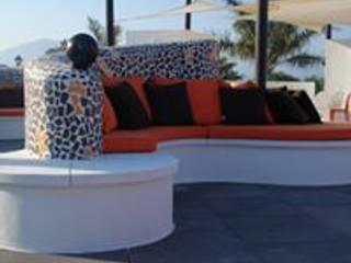 Diseño y decoración de una terraza Balcones y terrazas de estilo moderno de Taller de Interiores Mediterraneos Moderno
