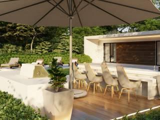 Moradia t2 - 125 m2 - Engenharia LSF Jardins de Inverno modernos por Strobe Decor Moderno