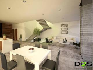 Living room by DOS Arquitectura y construcción