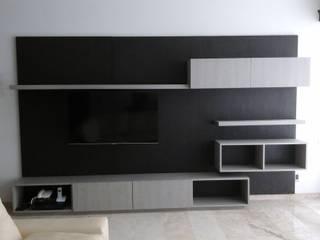 Centros de TV en Madera fina:  de estilo  por Maderaje Arquitectónico, S. A. de C.V.,