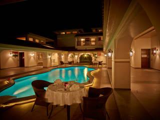 NEONZ LIFESTYLE AND RECREATION CLUB AND RESORT Mediterranean style hotels by Hardik Soni Architects Mediterranean