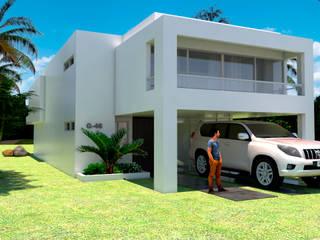 Casas de estilo  de JUAN CASTRO ARQUITECTO